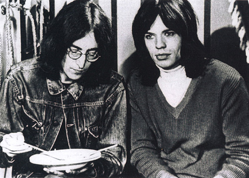 John Lennon y Mick Jagger, 1968