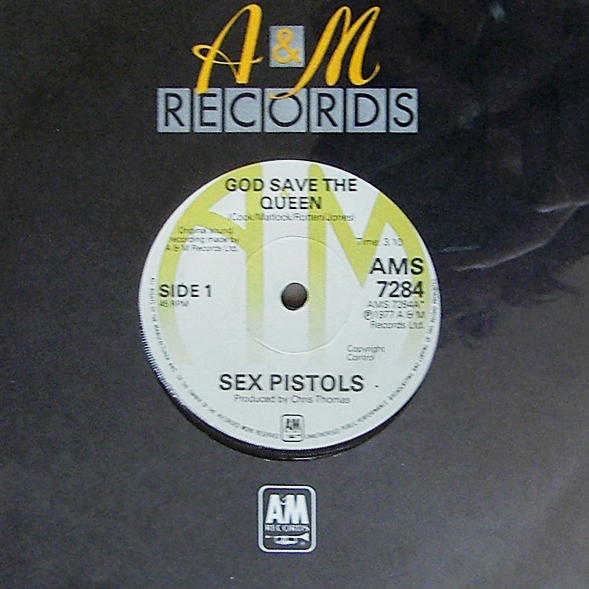 "Primera edición en single de ""God Save the Queen"""