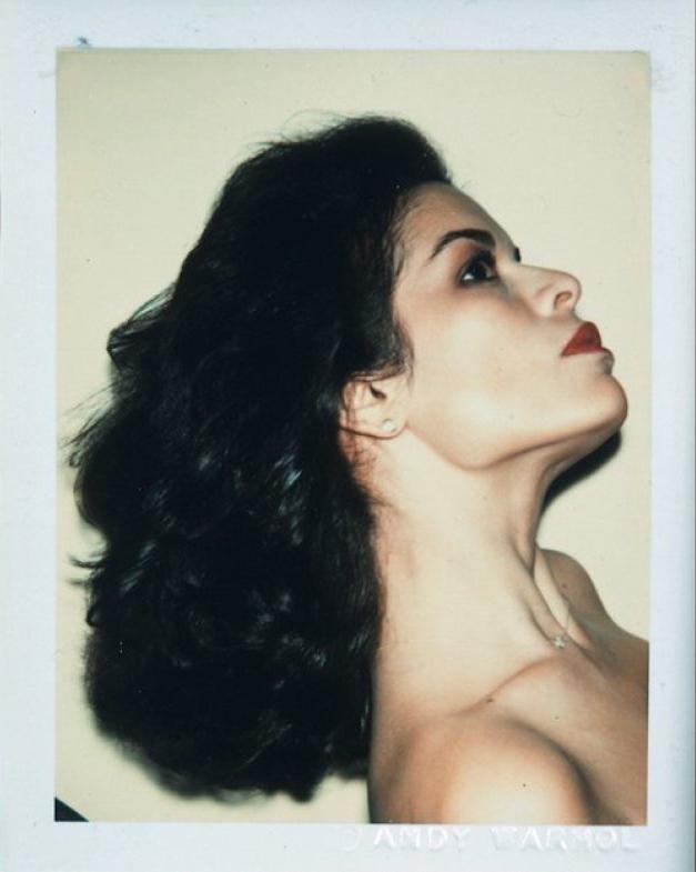 Bianca Jagger, en una de las Polaroid de la serie 'Celebrities' de Warhol