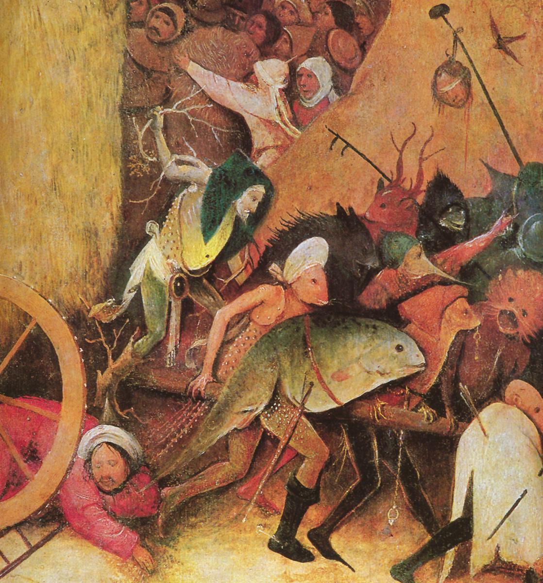 Detalle de 'El carro de heno'