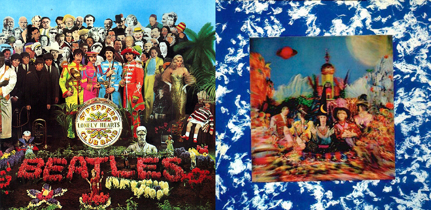 """Sgt. Pepper's Lonely Hearts Club Band"" (The Beatles, junio de 1967) y ""Their Satanic Majesties Request"" (The Rolling Stones, diciembre de 1967)"