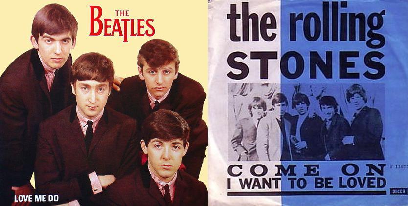 Primeros 'singles' de los Beatles (1962) y los Rolling Stones (1963)