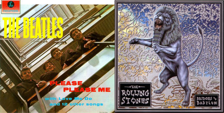 """Please Please Me"" (The Beatles, 1963) y ""Bridges to Babylon"" (The Rolling Stones, 1997)"