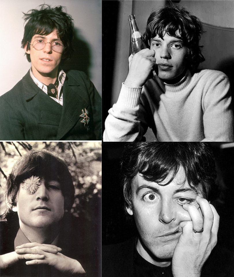 Richards, Jagger, Lennon y McCartney