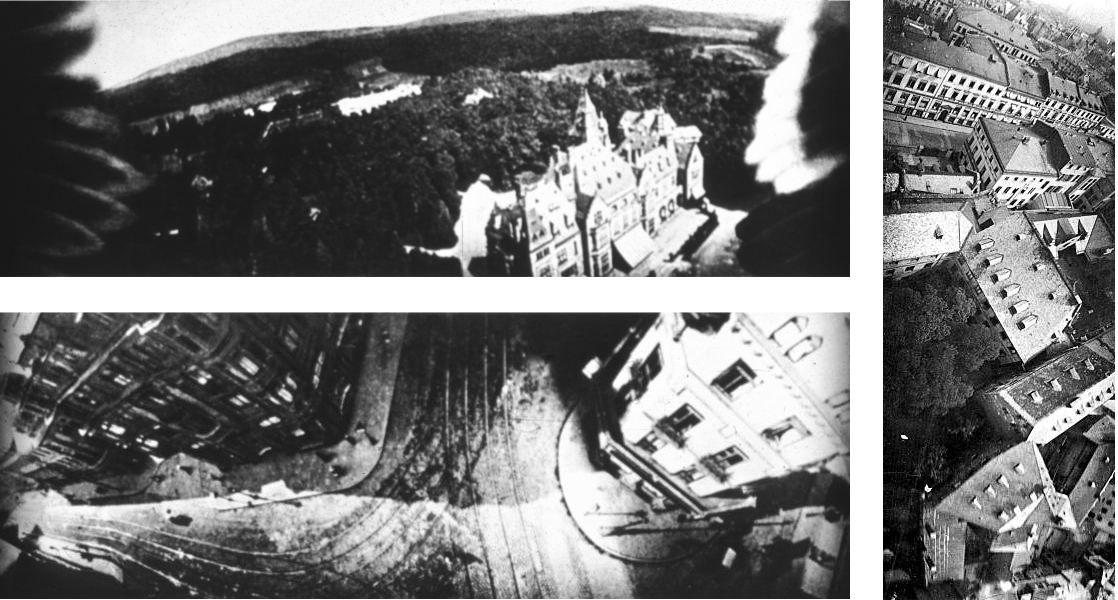 Fotos aéreas tomadas por las palomas