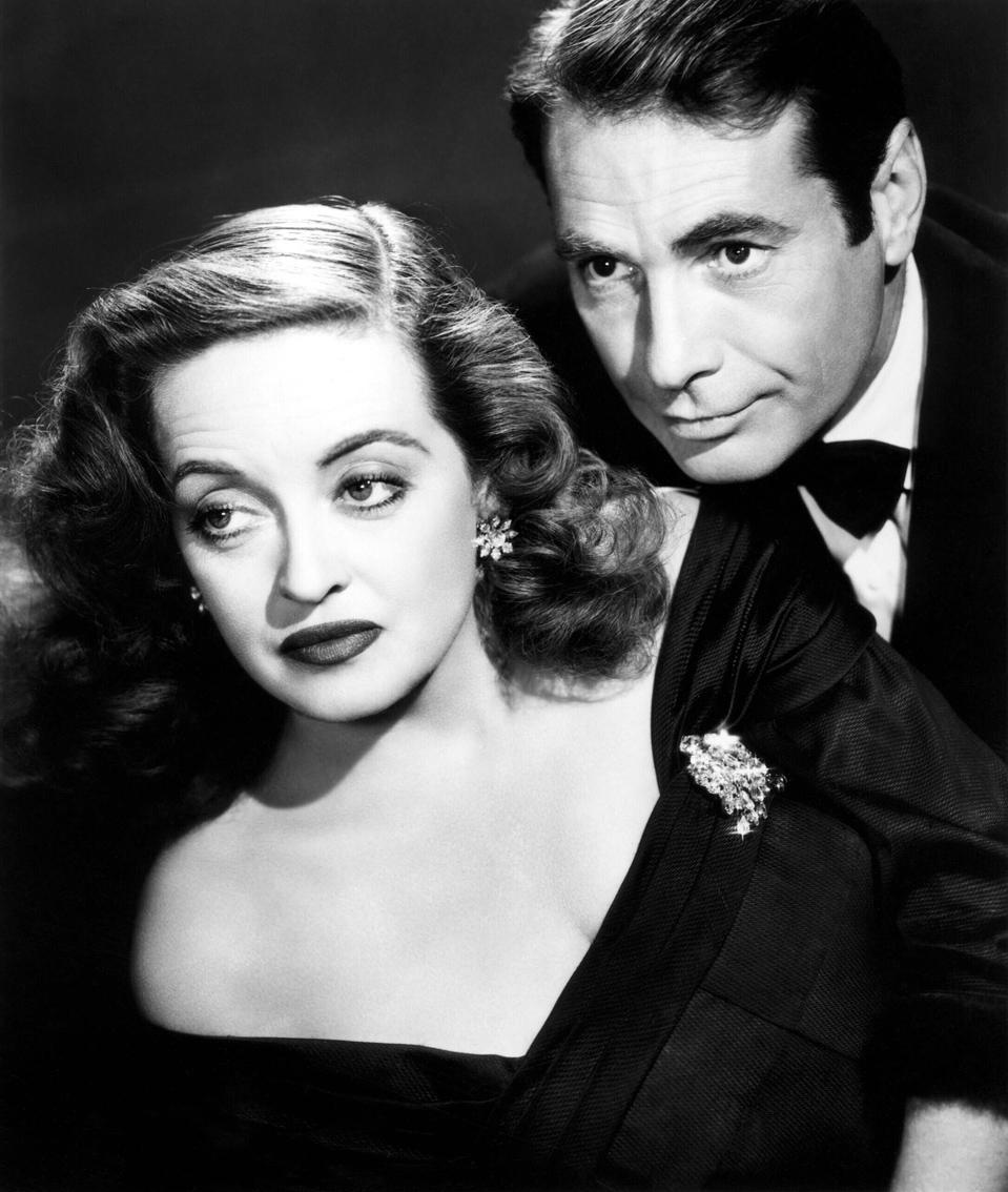 "Con Gary Merrill en ""Eva al desnudo"" (1950)"