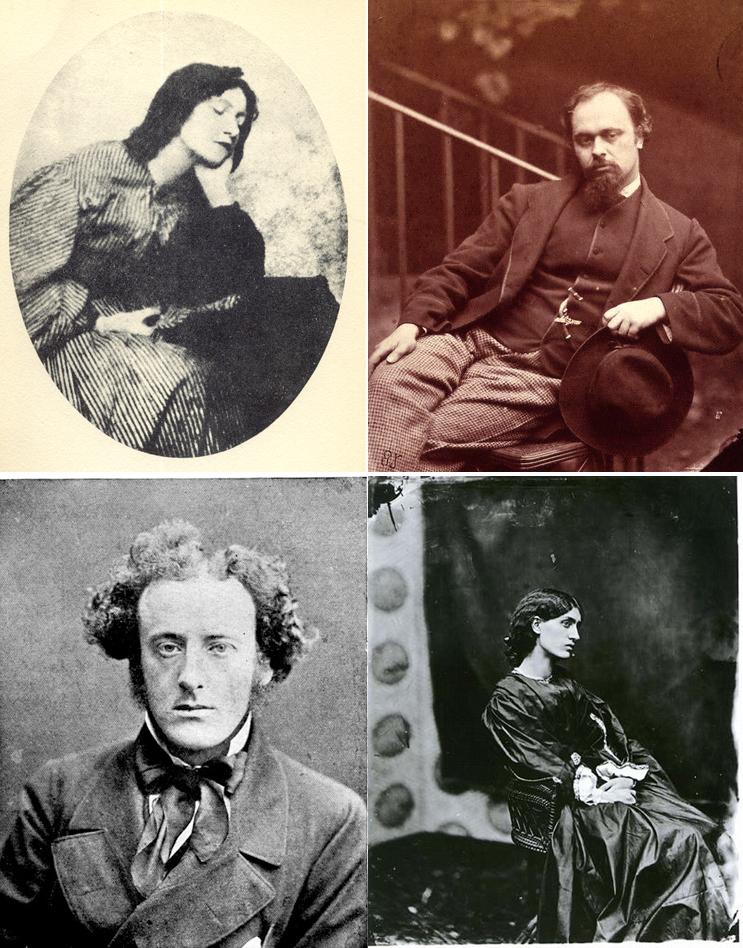 Elizabeth Siddal, Rossetti,Millais y Jane Burden