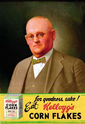 Will Keith Kellog en un anuncio de sus cereales