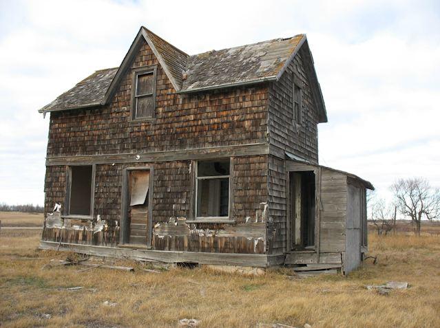 La granja casa abandonada