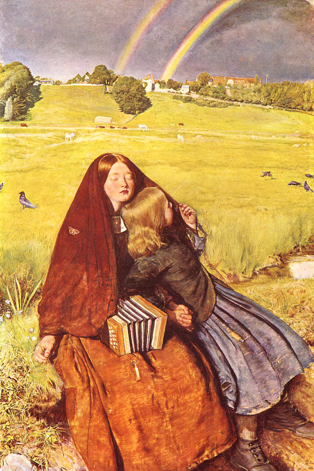 John Everett Millais - 'Blind Girl'
