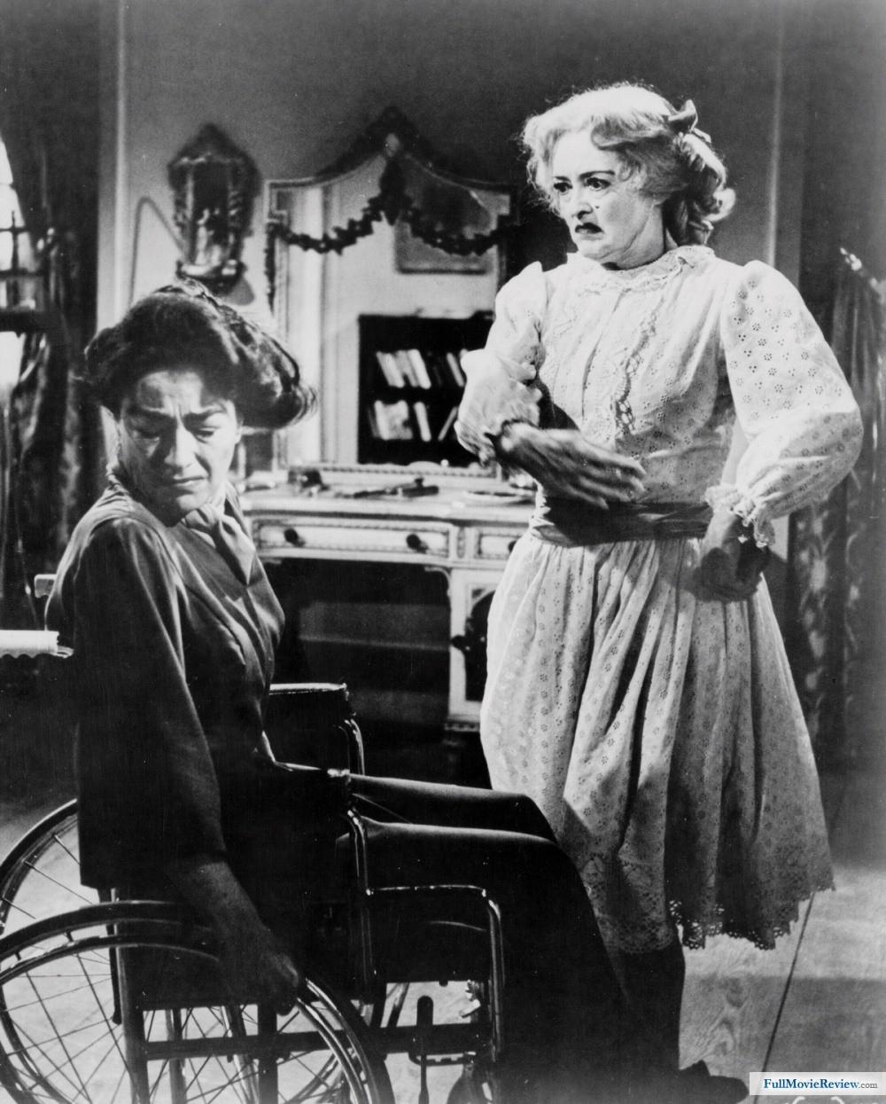 """Con Joan Crawford en """"¿Qué fue de Baby Jane?"""" (1962)"""