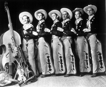 The Pampa Jr. Chamber of Commerce Band (Guthrie, primero por la izquierda), 1936