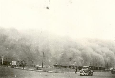 Tormenta de polvo en Pampa (Texas), 1930