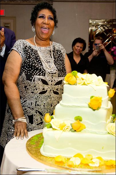 Aretha celebra su 70 cumpleaños