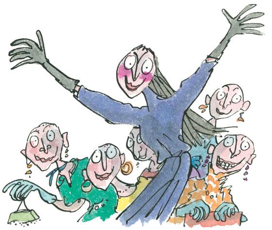 Ilustración de Quentin Blake para 'Las brujas'