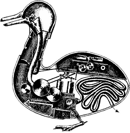Una hipótesis sobre el interior del pato de Vaucanson