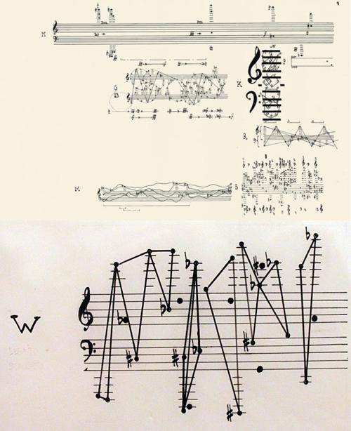 Partitura del concierto. La parte de abajo corresponde al piano.