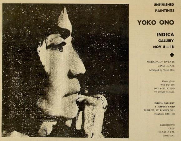 Cartel de la exposición de Yoko Ono