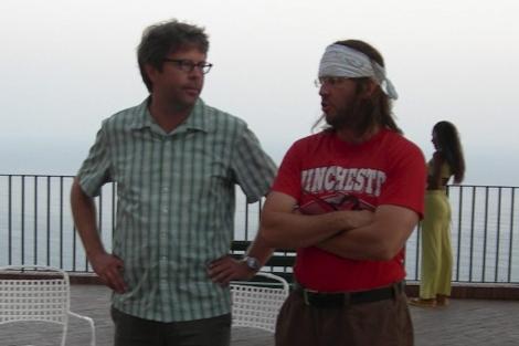 Jonathan Franzen (izq.) y DFW