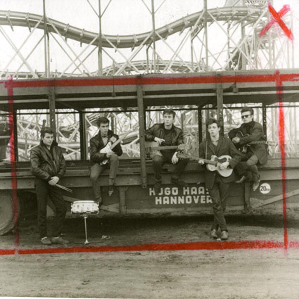 Foto de Hugo Haase de los Beatles en Hamburgo, Sutcliffe es