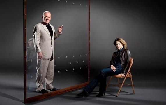 """Anthony Hopkins y Jodie Foster en una foto de promoción de """"El silencio de los corderos"""""""