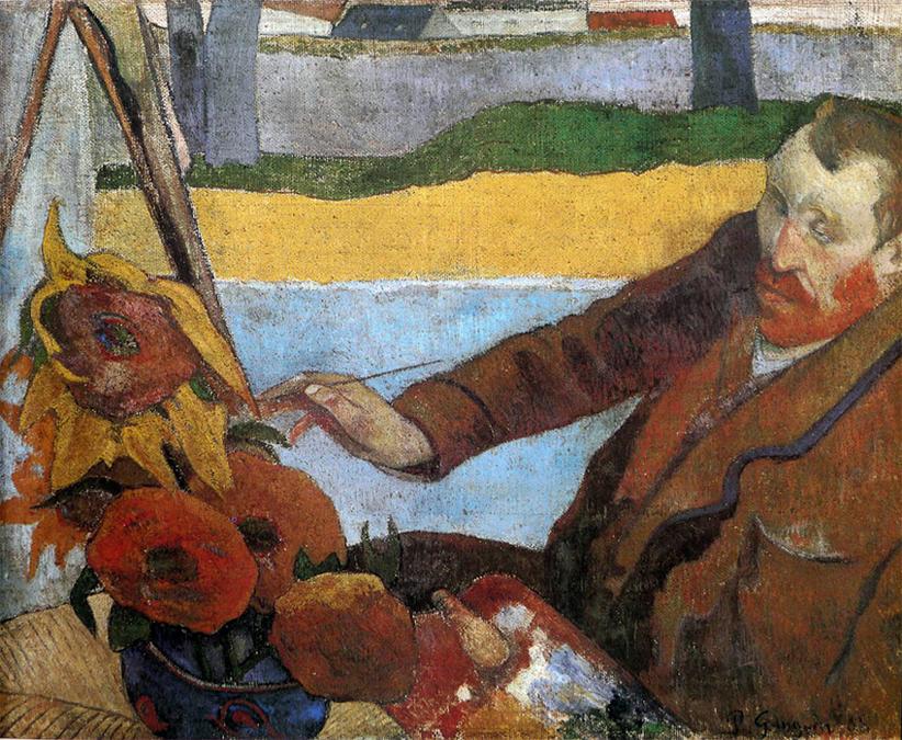 Van Gogh peignant des tournesols (1888)