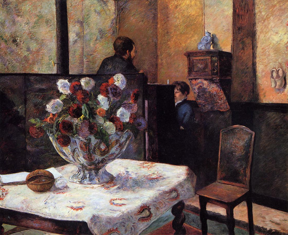 'Interieur du peintre Paris, rue Carcel' (1881)