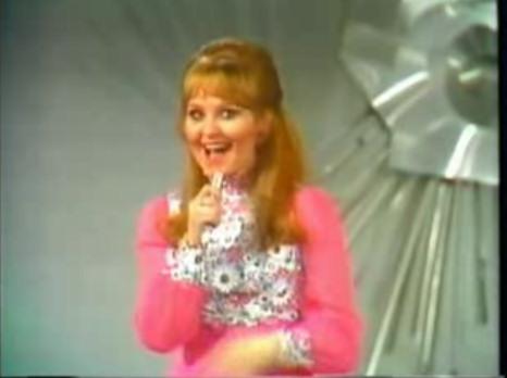 Lulu en la final de Eurovisión de 1969 en Madrid