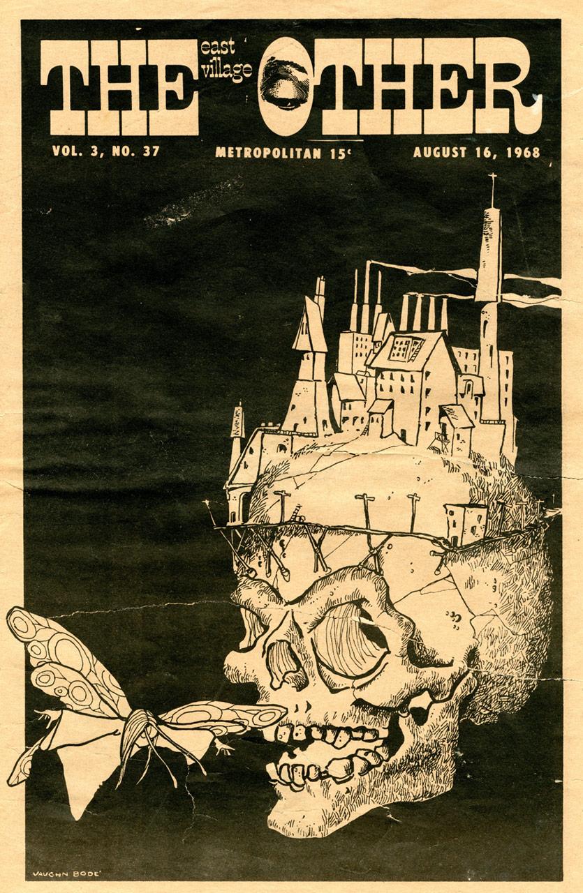 """Ilustración de Vaughn para el """"East Village Other"""", 1968"""