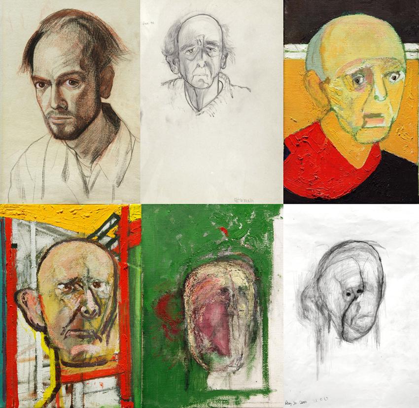 Retratos de 1967- 1996- 1997-1998-1999 y 2000 ('Galerie Beckel Odille Boïcos)
