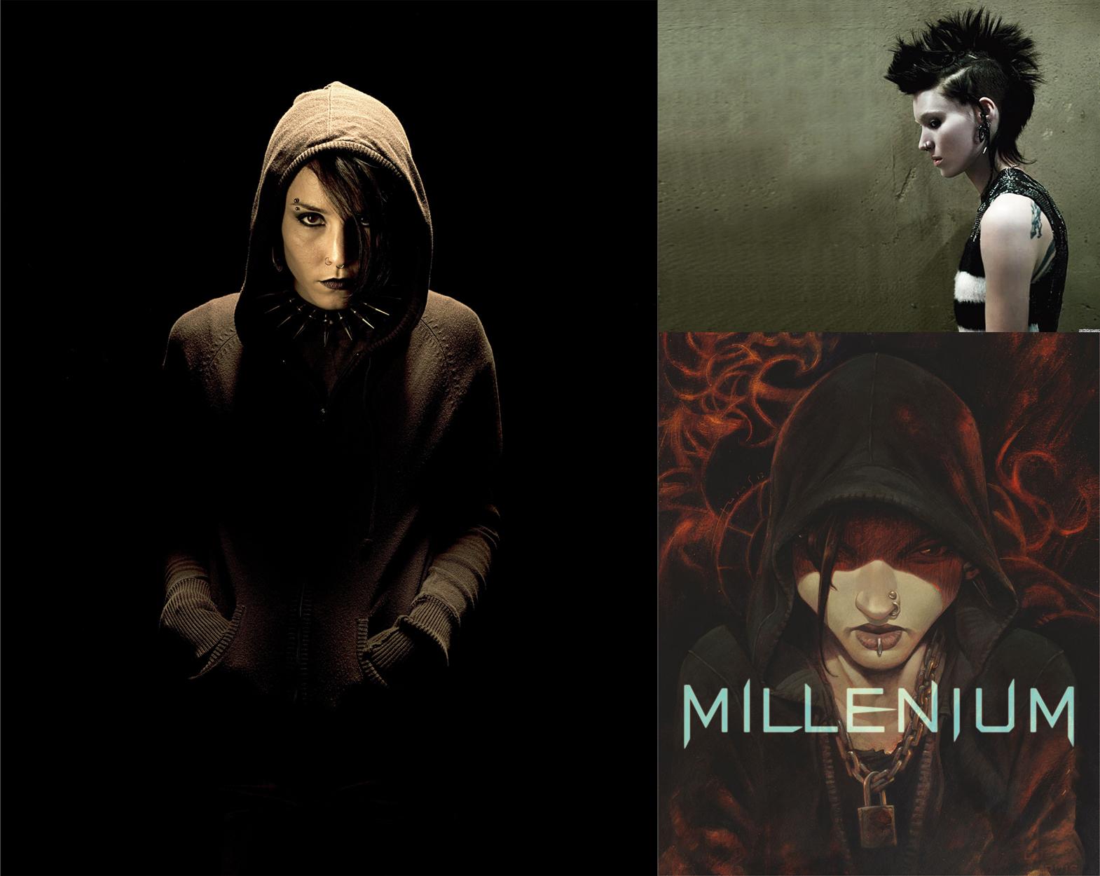 Tres representaciones de Lisbeth Salander