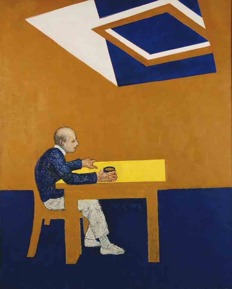'Blue Skies' (1995) - William Utermohlen - Galerie Beckel Odille Boïcos
