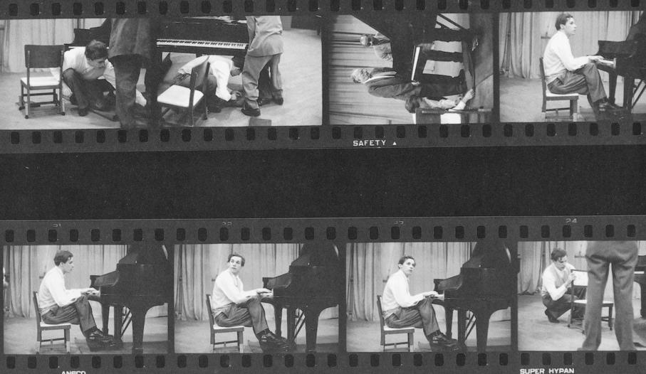 El pianista y su inseparable asiento