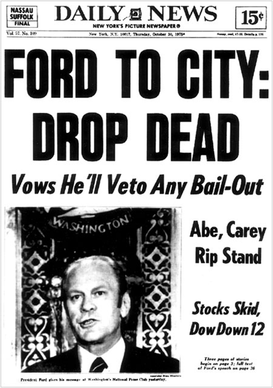"""Portada del """"Daily News"""" del 30 de octubre de 1975"""