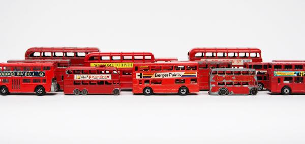Algunos de los autobuses de Kate Farley - (Graham Powell - Obsessionistas)