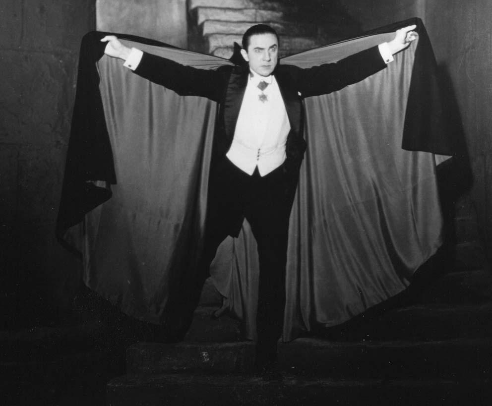 Béla Lugosi con el 'uniforme' de Drácula