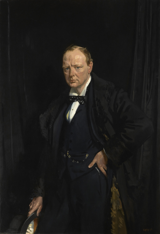 'Winston Churchill' - William Orpen - Lent by the Churchill Chattels Trust -  Image © National Portrait Gallery, LondonLent by the Churchill Chattels Trust -  Image © National Portrait Gallery, London