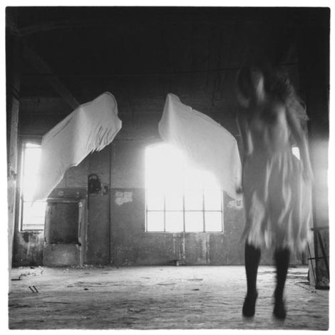 "Francesca Woodman — from ""Angel"" series, Rome, 1977"