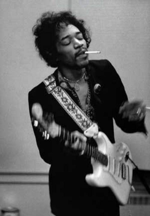 Hendrix y su Stratocaster