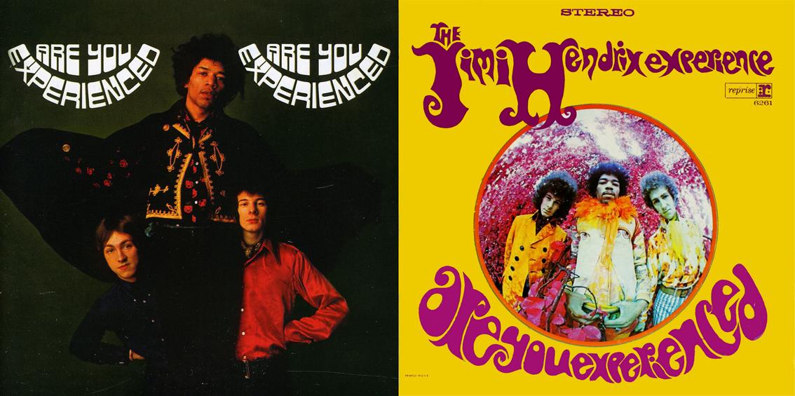 La edición  británica y la estadounidense de 'Are you experienced'