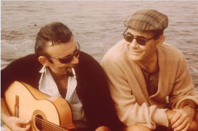 Bert Berns (izquierda) y Jerry Wexler