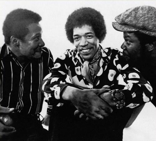 Hendrix con Billi Cox y Buddy Miles