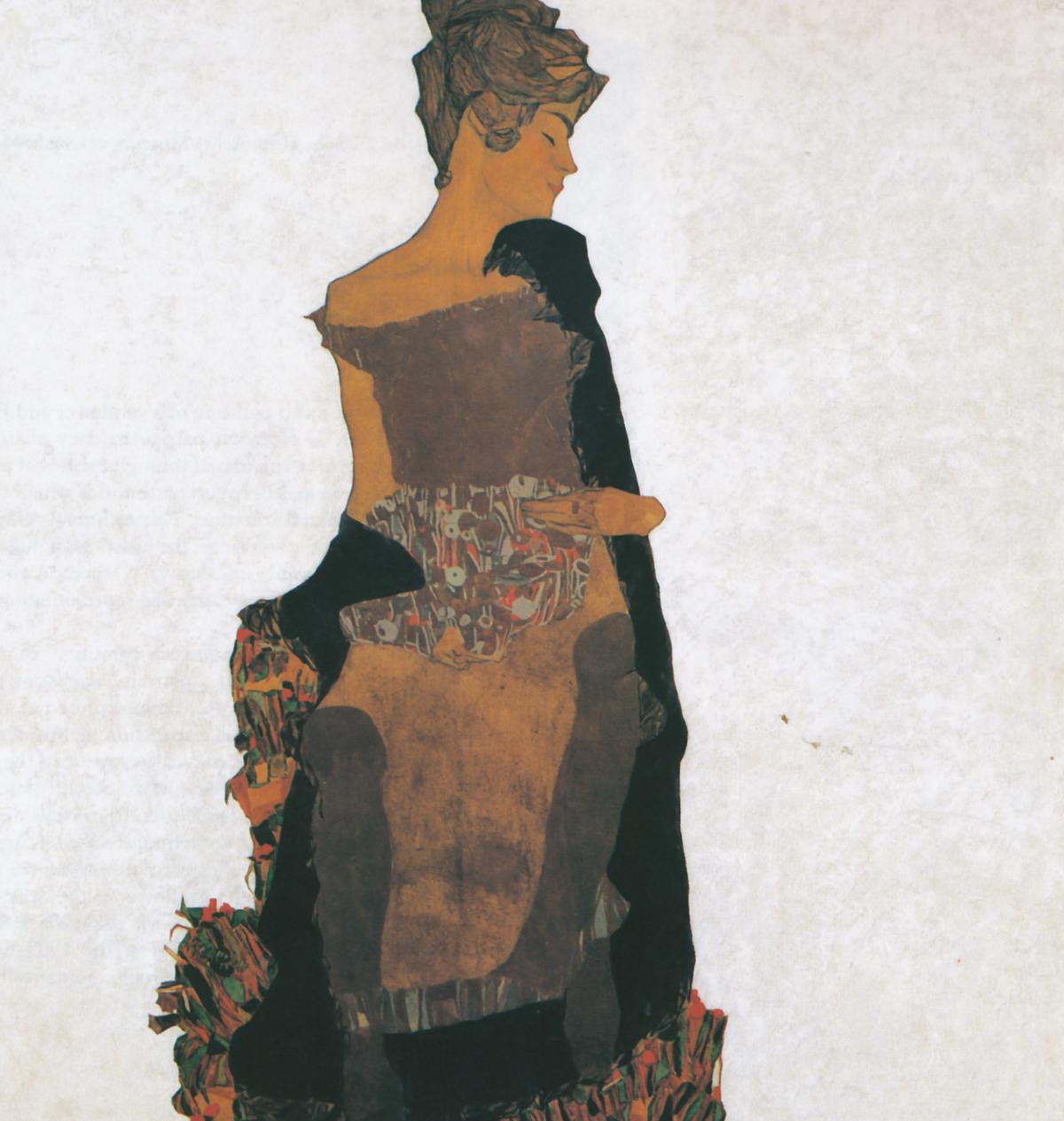 'Retrato de Gerti Schiele' - 1909