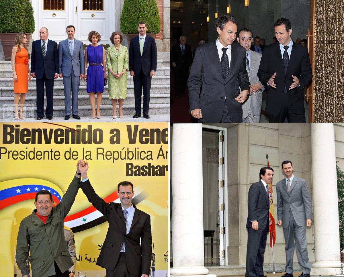 Los Al Assad con algunos amigos