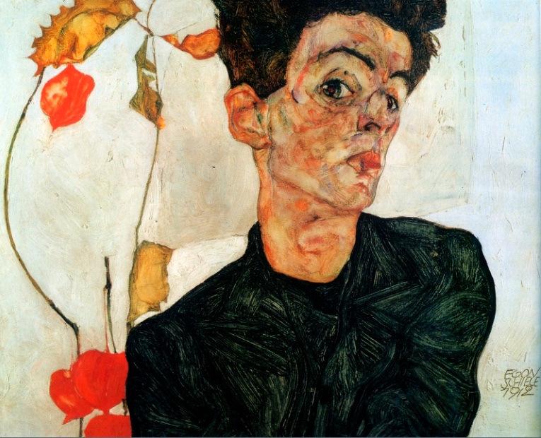Autorretrato de Egon  Schiele de 1912