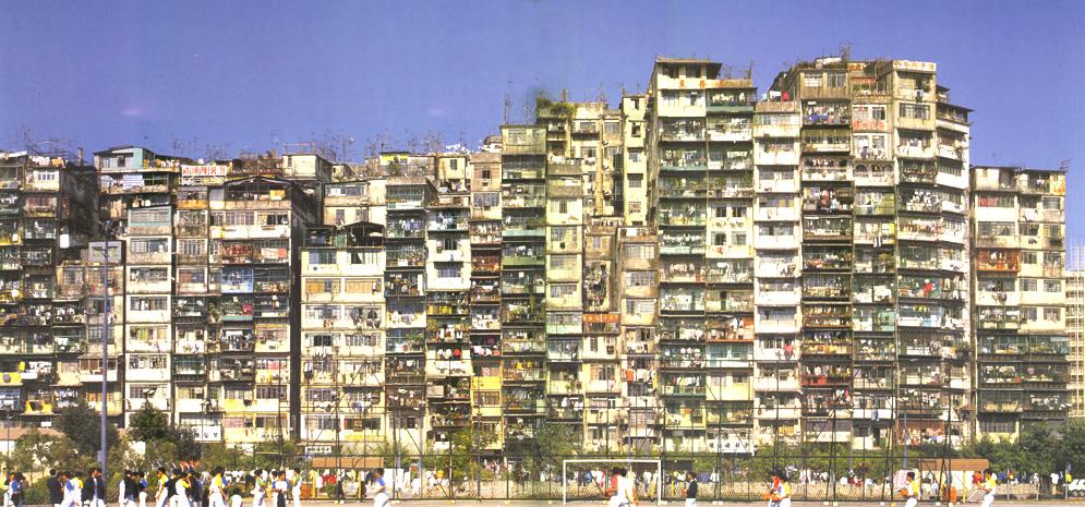La ciudad amurallada de Kowloon, en Hong-Kong, en la que vivían 33.000 personas en 4 kilómetros cuadrados