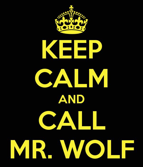 Mantengamos la calma y llamemos al Señor Lobo