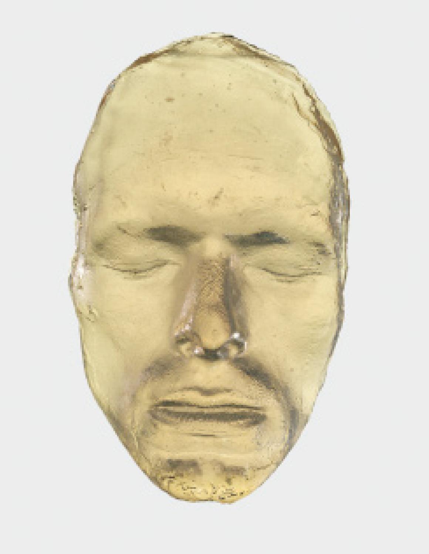 Máscara de resina de la cara de Bowie, 1975