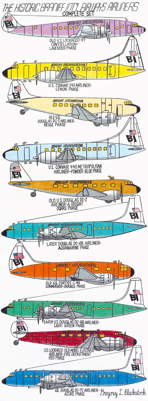 Gregory Blackstock - aircrafts