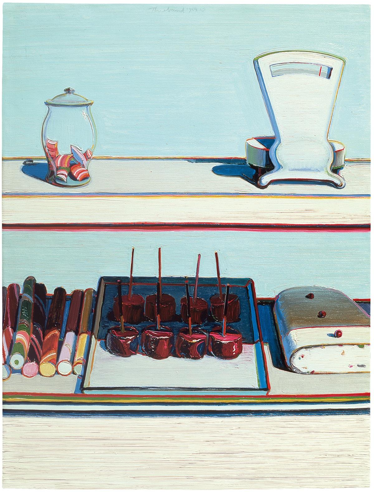 Wayne Thiebaud-Candy Counter-1969
